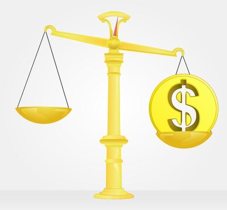 weight measure of dollar money value Stock Vector - 21660317