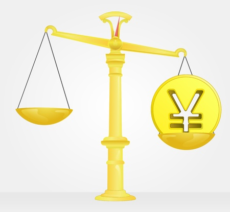 yuan: weight measure of yuan or yen money value Illustration