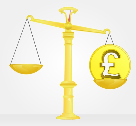 weight measure of pound money value Stock Vector - 21660320