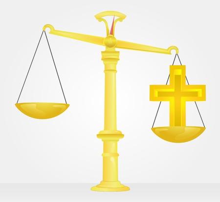 weight measure of christian religion Banco de Imagens - 21660321