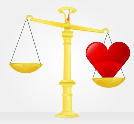 weight measure of healthy heart Stock Vector - 21660334