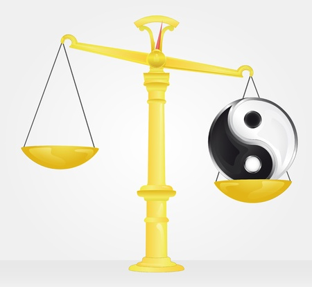 weight measure of yin and yang balance  Stock Vector - 21660336