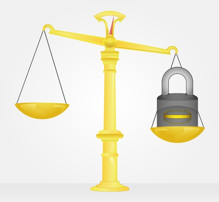 weight measure of padlock security Stock Vector - 21660343