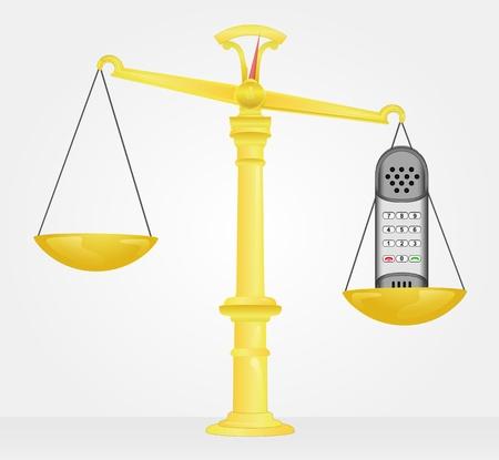 중요: 전화의 중요성의 무게 측정