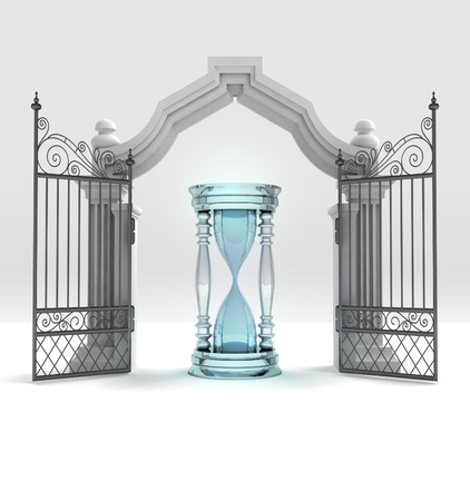 sand-glass counting time in heavenly gate illustration Stock Illustration - 21660429