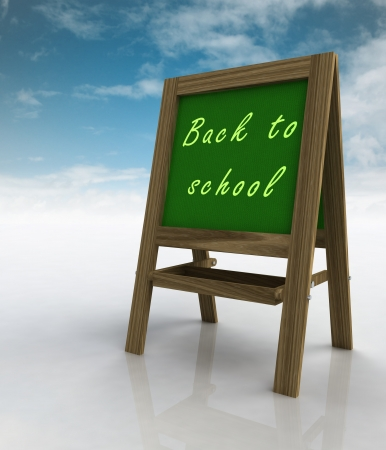 welcoming: welcoming school wooden rack right view with sky illustration