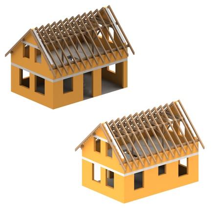 two isometric construction schema development design illustration Stock Illustration - 21660447