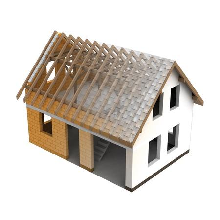 roofing: roofing construction house design blend transition illustration