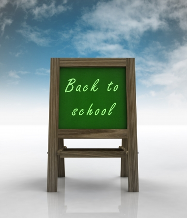 welcoming school wooden rack front view with sky illustration illustration