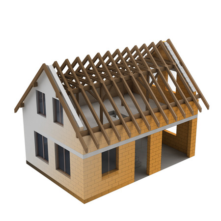 fluent blend of two parts of a house construction illustration illustration