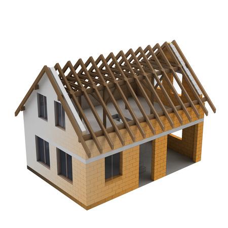 fluent: fluent blend of two parts of a house construction illustration