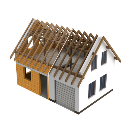 rafter: wooden construction house design transition illustration