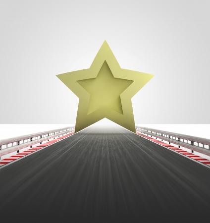 高速道路の良いスター スコア レベル図 写真素材