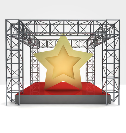 top star rated performance under steel framework construction illustration Stock Illustration - 22259789