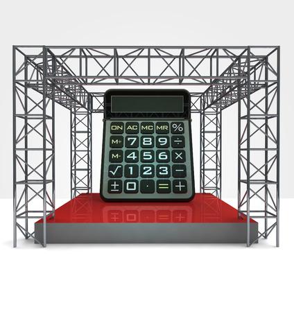 build cost calculator under steel framework construction illustration illustration
