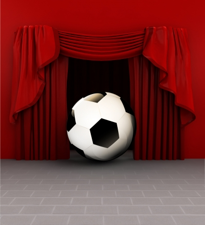 introduction: football rules introduction before match starts illustration Stock Photo