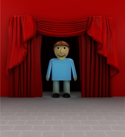 introduction: best actor introduction before show starts illustration Stock Photo