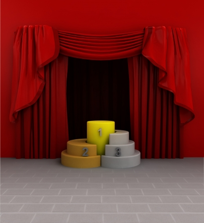 introduction: champion winner introduction of product exhibition illustration Stock Photo