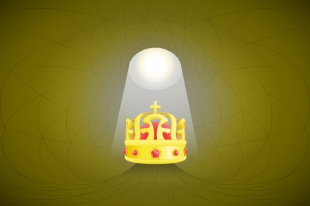 heavenly space with light beam highlights royal crown vector illustration Stock Vector - 22372306
