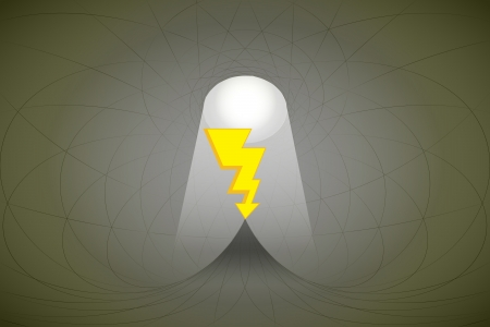 heavenly space with light beam highlights bolt strike vector illustration Stock Vector - 22372320