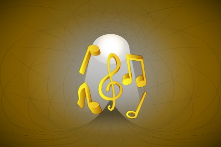 heavenly space with light beam highlights music vector illustration Stock Vector - 22372321