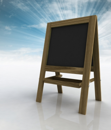 timbered: school wooden rack right view with sky flare illustration