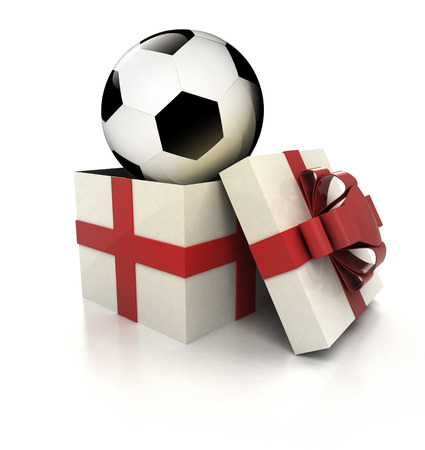mysterious magic gift with football ball inside render illustration illustration