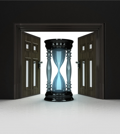 way to hurry up through doorway space illustration Stock Illustration - 22733943