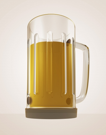 sapid: full glass of tasty bier to big thirst render illustration Stock Photo