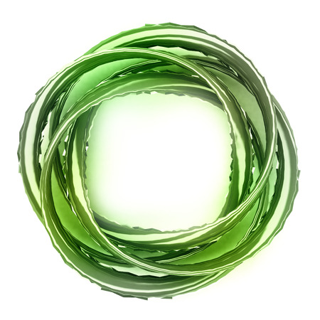 metallic green twist shaped jewelry product design concept background Stock Photo - 22734235