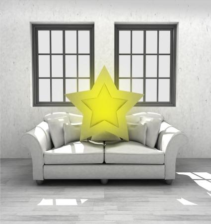 top star rated your confortable interior design render illustration illustration