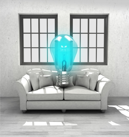 inventions: new inventions for your comfortable modern interior home design illustration Stock Photo