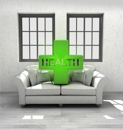 keep your health in comfortable modern interior home design render illustration illustration