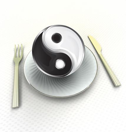 od: enjoy harmony od East countries cuisine render illustration Stock Photo