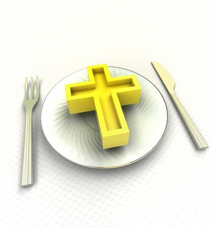 거룩한 식사를 주셔서 감사기도를 드리십시오.