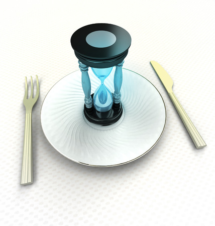 second meal: time to take a meal advertisement render illustration Stock Photo