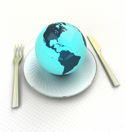 american cuisine: sample american cuisine of top class quality render illustration