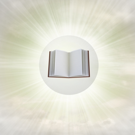 open book in glossy bubble in the air with flare illustration Stock Illustration - 22741719