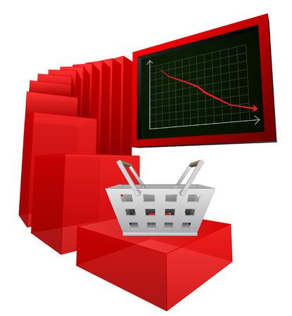 negative business sale or buy results vector illustration Vector