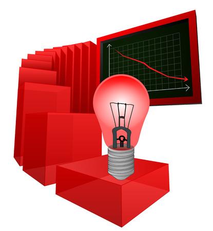 negative business results warning vector illustration Vector