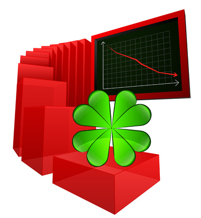 negative business results with lucky forecast vector illustration Vector