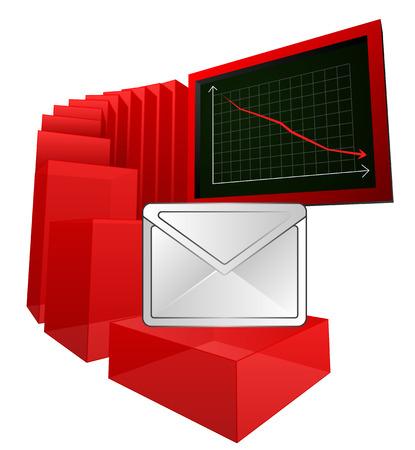 negative business results information vector illustration Vector