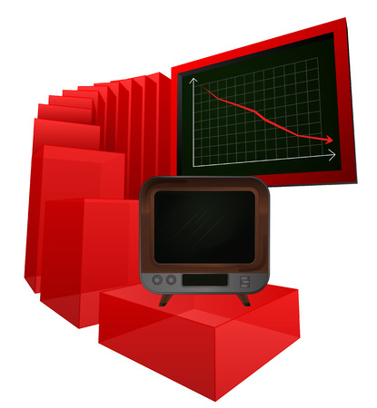 negative results of television sale products vector illustration