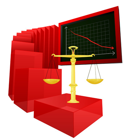 negative results of justice and liberty vector illustration Vector