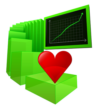 positive results of lovely business vector illustration Vector