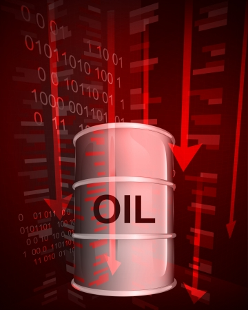 negative value decrease of oil goods vector ilustration Vector