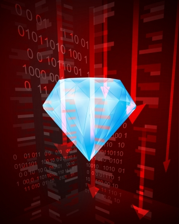 negative decreasing statistics in gemstone business vector illustration Vector