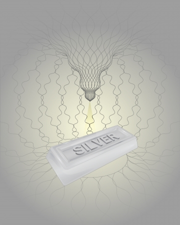 heavenly space silver creation with light beam vector illustration Vector