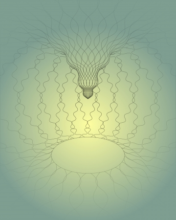 heavenly light: heavenly space with light in the middle vector illustration