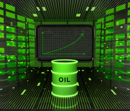 business positive graph forecast or results in fuel industry illustration illustration